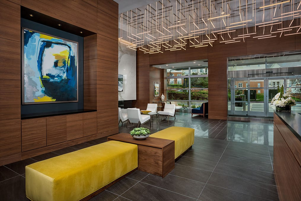 custom framing and installation for a hotel